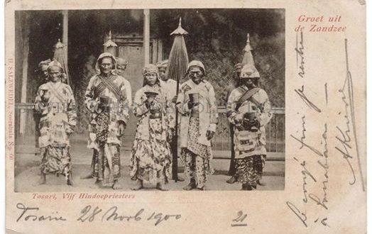 """Vijf Hindoepriesters"""" atau """"Lima Pedanda"""" (pendeta Hindu) di Tosari"""