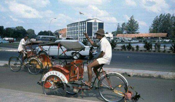 Becak di Bunderan HI Tahun 1968